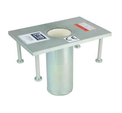 3M™ DBI-SALA® Floor Mount Cast-in-Place Sleeve Davit Base 8512828, 1 EA 3M Product Number 8512828, 3M ID 70007492559 - Floor mount cast-in-place sleeve davit base, stainless steel, for the offset davit mast.