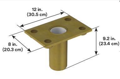 3M™ DBI-SALA® Confined Space Floor Mount Sleeve Davit Base 8510316, 1 EA 3M Product Number 8510316, 3M ID 70007492906 - Floor mount sleeve davit base, flush mount design, zinc plated, for the offset davit mast.