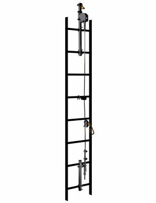 M™ DBI-SALA® Lad-Saf™ Cable Vertical Safety System 6118020, Galvanized Steel, 20 FT 3M Product Number 6118020, 3M ID 70804494535 - This system is a 2-user, galvanized steel vertical safety system (vertical lifeline) that meets the new ANSI Z359.16 standard, along with OSHA 1910.140 and 1926.502, when used with the Lad-Saf X3 Detachable Cable Sleeve (6160054) and Lad-Saf X2 Detachable Cable Sleeve (6160030). It includes the top and bottom brackets and 20' of swaged 3/8 inch 1x7 galvanized steel cable.