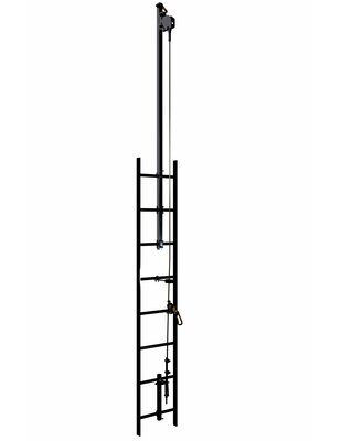 3M™ DBI-SALA® Lad-Saf™ Cable Vertical Safety System Bracketry, Climb Extension 6116636, 2 User, Galvanized Steel 3M Product Number 6116636, 3M ID 70804503327 - This 2-user, galvanized steel vertical safety system (vertical lifeline) meets the new ANSI Z359.16 standard, along with OSHA 1910.140 and 1926.502, when used with the Lad-Saf X3 Detachable Cable Sleeve (6160054) and Lad-Saf X2 Detachable Cable Sleeve (6160030) and is ideal for billboards and ladders. The Climbing Extension extends 4' above the top attachment point.