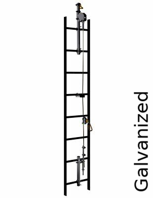 3M™ DBI-SALA® Lad-Saf™ Cable Vertical Safety System 6118060, Galvanized Steel, 60 FT - This complete system includes all brackets, pre-swaged cable, and cable guides, all in a single SKU.