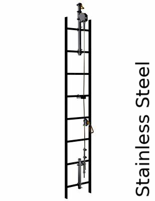 3M™ DBI-SALA® Lad-Saf™ Cable Vertical Safety System 6119020, Stainless Steel, 20 FT - This complete system includes all brackets, pre-swaged cable, and cable guides, all in a single SKU.