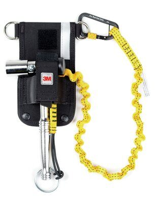 3M™ DBI-SALA® Scaffold Wrench Holster with Retractor, Belt, with Hook2Loop Bungee Tether 1500097, 1 EA 3M Product Number 1500097, 3M ID 70007438933 - Belt scaffold wrench holster with rear-feed retractor, includes Hook2Loop Bungee Tether.