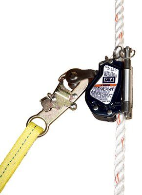 "3M™ DBI-SALA® Lad-Saf™ Mobile Rope Grab 5000335, 1 EA 3M Product Number 5000335, 3M ID 70007471371, UPC 00840779001255 - Mobile rope grab for use on 5/8"" (16 mm) rope lifeline."