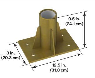 3M™ DBI-SALA® Center Mount Sleeve Davit Base 8512831 3M Product Number 8512831, 3M ID 70007492567