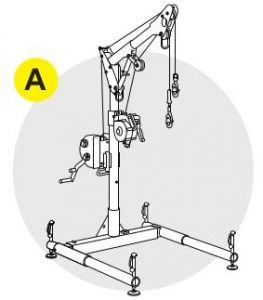 Anchors Davit systems, tripods and portable fall arrest posts are solutions where the worker's fall protection connector will be attached and is the main source of retrieval for the attendee.