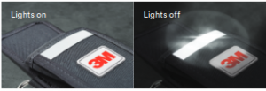 3M™ DBI SALA®    3M.com/DroppedObjectsPrevention   800-328-614614Lights onLights offHigh-Visibility ReflectorsProducts equipped with our high-visibility reflectors are easy to identify and locate, even when left in dark spaces. The highly reflective material stitched into the front and back of the holster makes it easily detectable with a flashlight even in low-light conditions