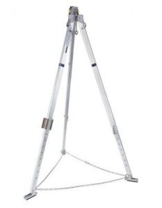3M™ DBI-SALA® Confined Space Aluminium Tripod 8000000, 1 EA - 7 ft. (2.1 m) aluminum tripod with adjustable locking legs, safety chain, safety shoes, top pulley and quick-mount bracket.