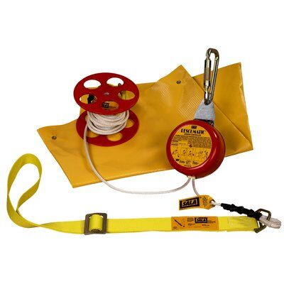 3M™ DBI-SALA® Rollgliss™ Rope Over Wire Automatic Descent Device 3300050, 1 EA 3M Product Number 3300050, 3M ID 70007457479 - 50 ft. (15.2 m) automatic descent control kit with body sling, anchoring carabiner, rope spool and carrying bag.