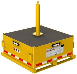 3M™ DBI-SALA® Flexiguard™ Jib Counterweight Base with Concrete 8530566, Yellow, 5000 lb 3M Product Number 8530566, 3M ID 70007600300 - Counterweight EMU™ base for flat surfaces, 5,000 lbs. (2,268 kg).