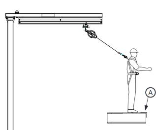 Counterweighted Jib with 20 ft. (6.1m) offset, anchor height determined by user.