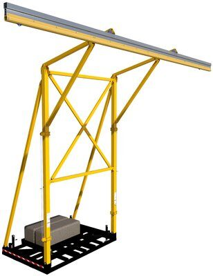 3M™ DBI-SALA® Flexiguard™ Counterweight Rail Fixed Height Anchor System without Concrete 8517760, 2 User, 22 ft High, 32 ft Wide 3M Product Number 8517760, 3M ID 70007658498