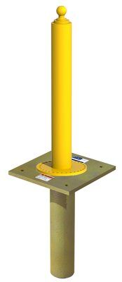 3M™ DBI-SALA® Flexiguard™ Jib Flush Floor Mount Base 8530564, Yellow 3M Product Number 8530564, 3M ID 70007600292