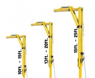 3M™ DBI-SALA® Flexiguard™ Jib Adjustable Height Mast Anchor 8530557, 1 User, Yellow, 10 – 15 ft 3M Product Number 8530557, 3M ID 70007499125