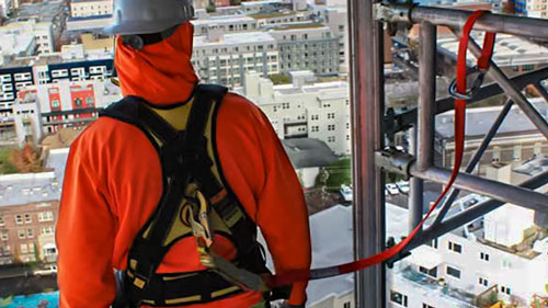 Tie Back Lanyards combine the best of two worlds.  With one piece of equipment you can have a fully functional anchor point and lanyard.  These fall protection safety lanyards work great with beams.