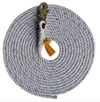 rope lifeline with single snap hook