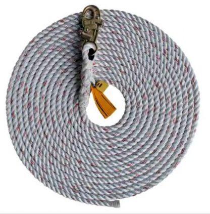 rope lifeline with single snap hook